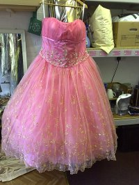 big pink prom dress