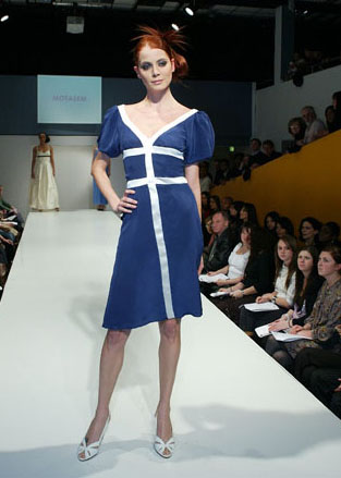 Andy Piccos - Blue Dress on the Catwalk